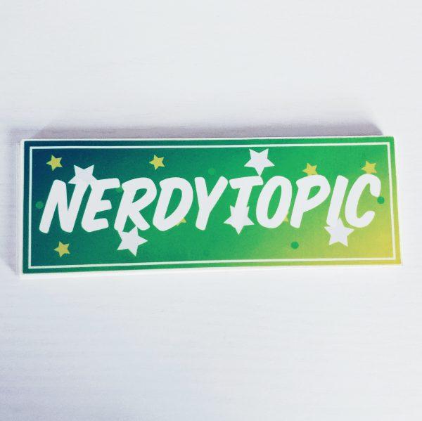 Nerdytopic Sticker