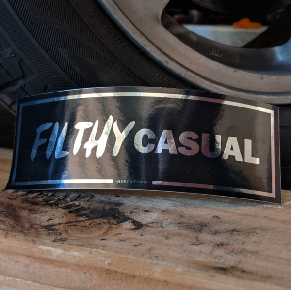 Filthy Casual Sticker