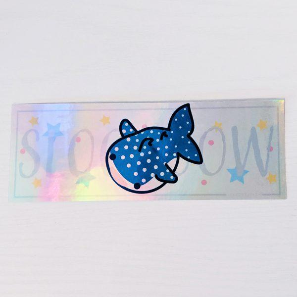 Sloooow Whale Sticker