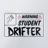 Student Drifter Sticker